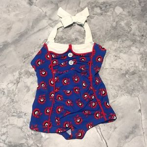 Janie and jack one piece bathing suit 3-6 mo